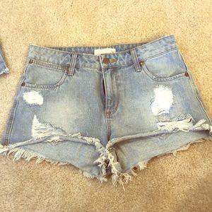 BP denim high waisted shorts